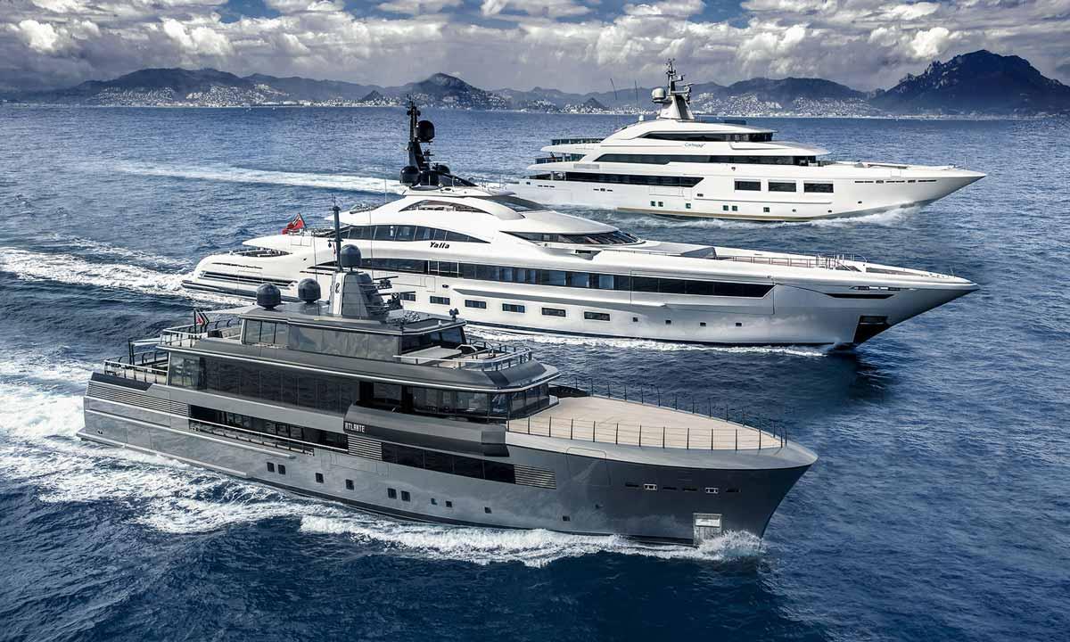 L'imponente flotta Crn (Ferretti Group)