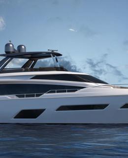 Il nuovo progetto 780 a marchio Ferretti Yachts