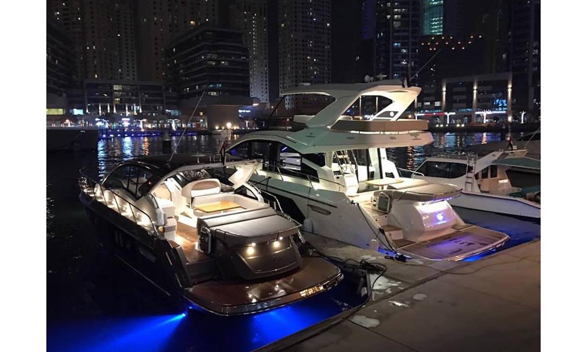 I modelli Cranchi ormeggiati a Marine Club di Dubai