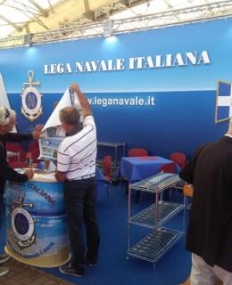 Lo stand della Lega Navale Italiana al Salone di Genova