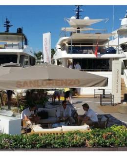 Lo stand Sanlorenzo al Miami Boat Show