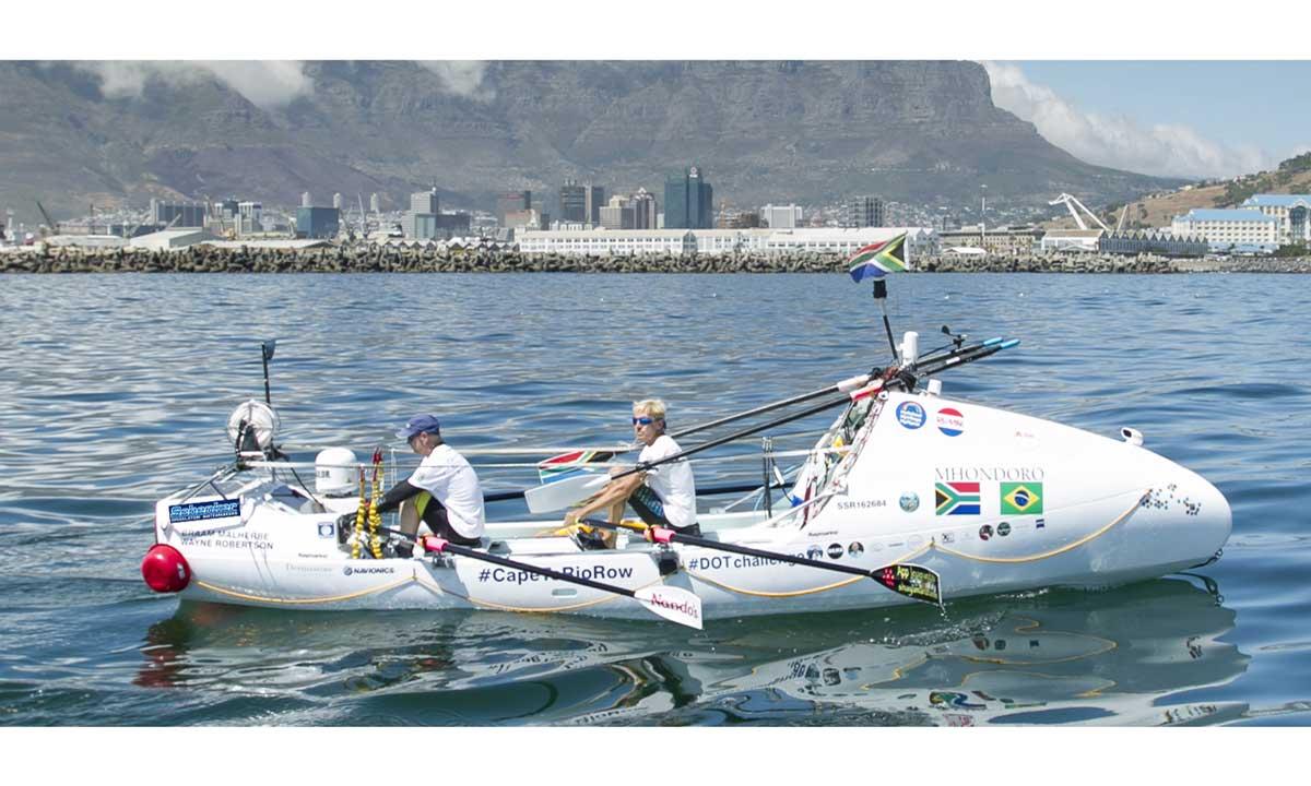 Cape Town-Rio de Janeiro a remi: Braam Malherbe e Wayne Robertson