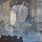 Raffaele De Rosa, olio su tela