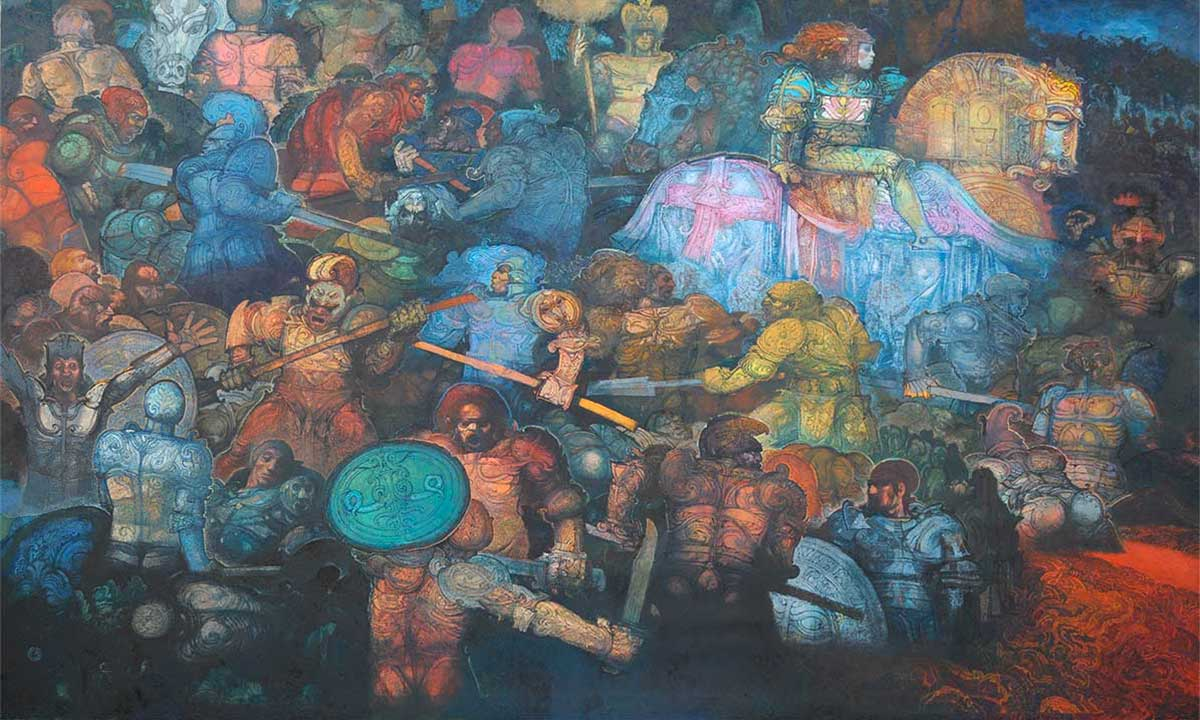 Raffaele De Rosa, Quando regna l'anarchia (olio su tela, 2016)