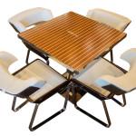 L'elegante tavolo Riva-Aquarama