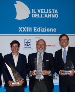I premiati. Da sinistra: Francesco Verri, Mattia Comboni, Guido Paolo Gamucci, Alessandro Rombelli