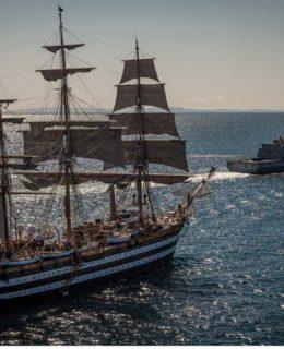 """L'Amerigo Vespucci e la fregata """"Rizzo"""""""