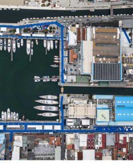 Preentato il Rapporto Cna. Ecco una panoramica aerea di Versilia Yachting Rendez-vous (Foto di Massimo Sestini)