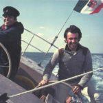 Un giovanissimo Tilli Antonelli con Raul Gardini a bordo di Naif