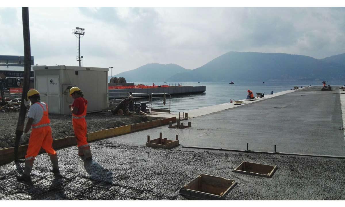 Ultimati i lavori della nuova darsena (lato Lerici): due moli da 85 metri ciascuno