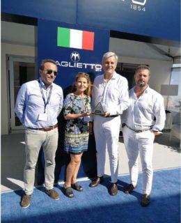 Baglietto 46m Fast. Da sinistra Beniamino Gavio, Jody Dunowitz, Michele Gavino e Alessandro Diomedi