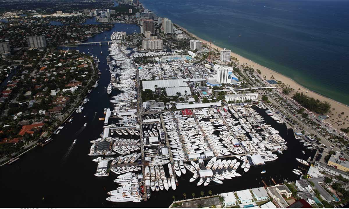 Un'immagine aerea della rassegna di Fort Lauderdale