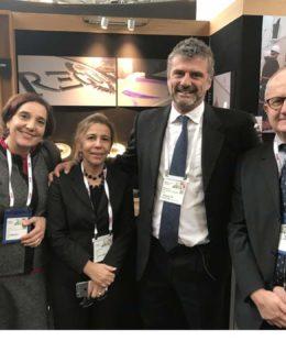 Ucina Ice al Mets. Da sinistra:Adele Rullo, Marina Stella,Fabrizio Di Clemente e Andrea Perugini