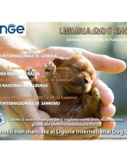 Liguria Dog Show 2017, il manifesto della rassegna