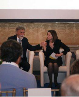 Tre progetti Ucina. Nella Foto il ministro Del Rio e Carla Demaria