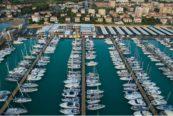 Nautica e Portualità. Nella foto una panoramica aerea di Marina Cala de' Medici