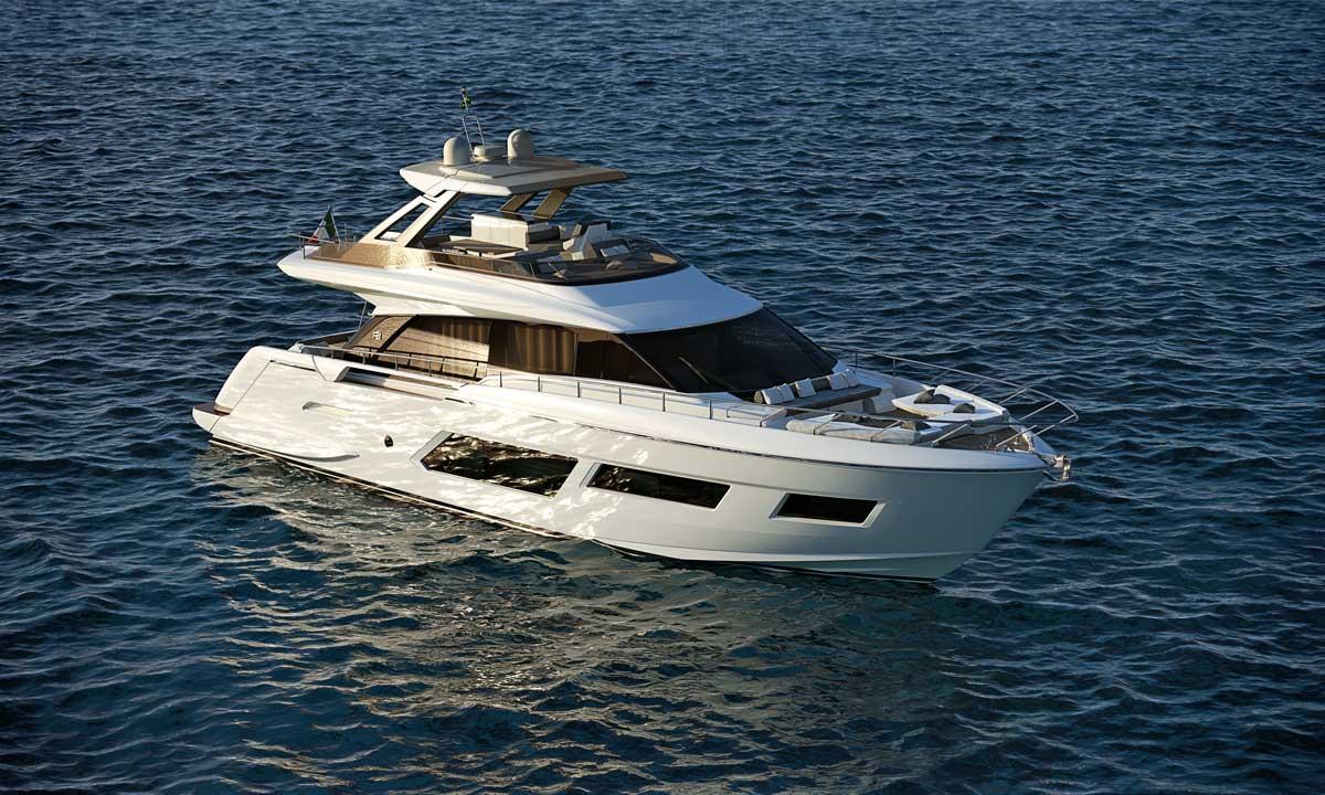Il nuovo progetto Ferretti Yachts 670