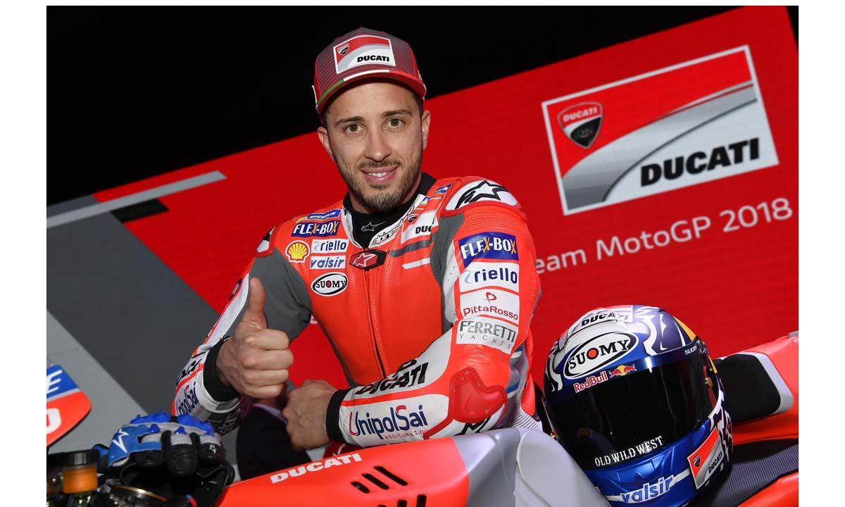 Il campione della Ducati Andrea Dovizioso