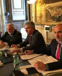 Shipping. Da sinistra Grimaldi, Coletta, Mattioli e Sisto