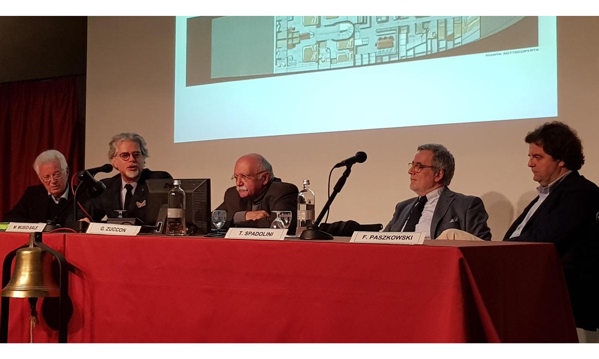 Tavola rotonda. Da sinistra: Aldo Cichero, Massimo Musio Sale, Giovanni Zuccon, Tommaso Spadolini, Francesco Paszkowski