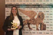 Lady Cranchi con il Leone d'Oro