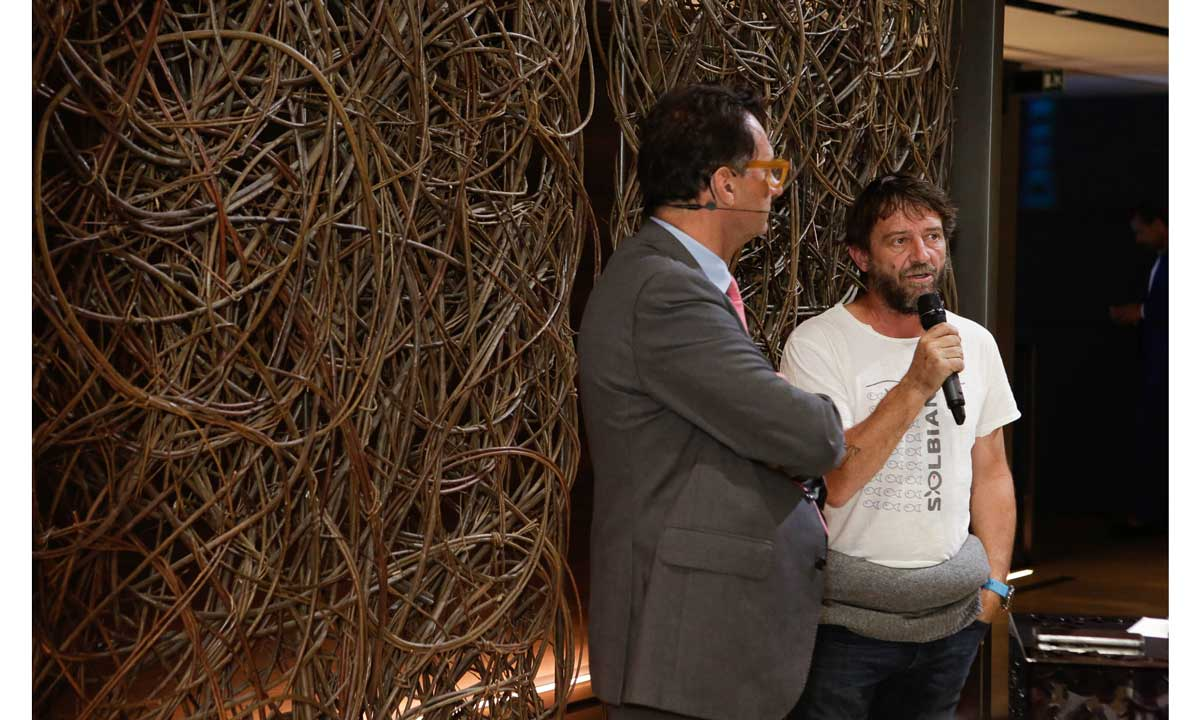 Antonio Vettese con Giovanni Soldini