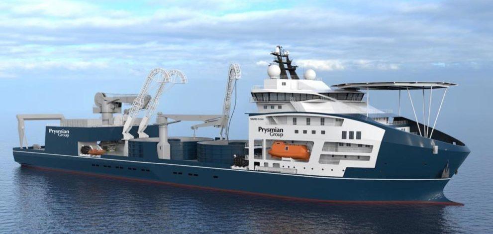 Prysmian ha ordinato una nave posacavi sottomarini a Vard (Fincantieri)