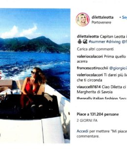 Diletta Leotta a bordo di Frauscher 1017 Lido Gt