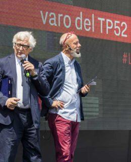 Luna Rossa e Pirelli: Max Sirena, Patrizio Bertelli e Stefano Vegliani (Photo Borlenghi)