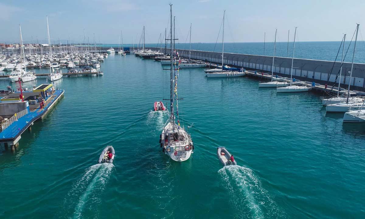L'arrivo di Zealand a Marina Cala de' Medici