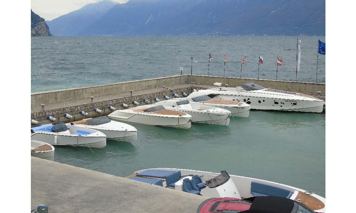 La flotta Frauscher a Gargnano