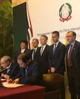 Hub Fincantieri a Shanghai, firmato l'accordo