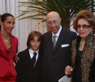 Aldo Grimaldi con la famiglia