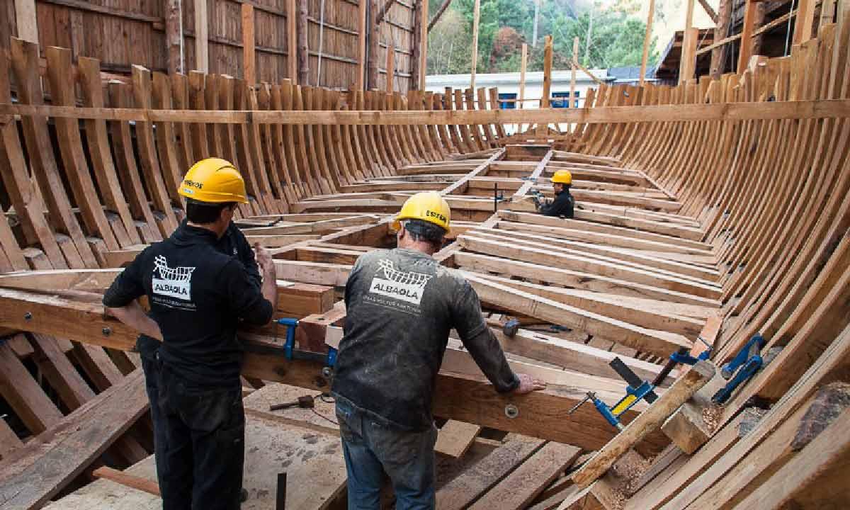 Costruzione della baleniera San Juan