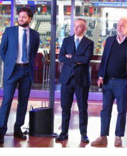 Ferretti e Wally show: da sinistra Stefano de Vivo, Albero Galassi e Luca Bassani