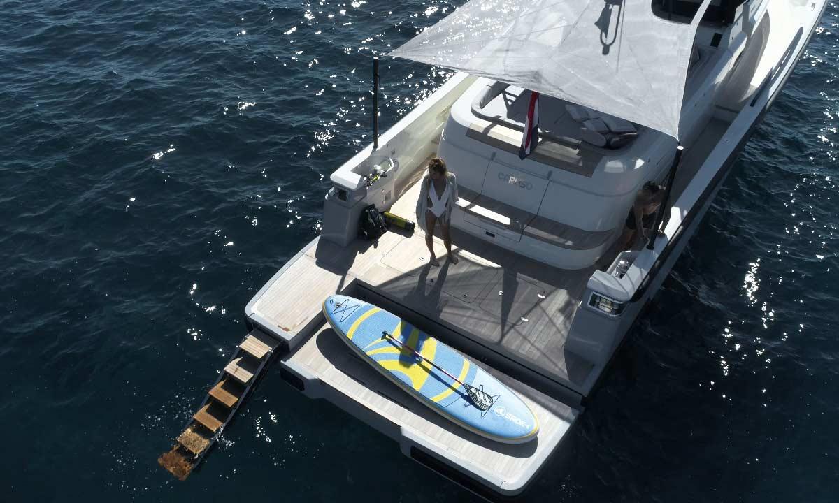Il pozzetto della Sport Utility Boat