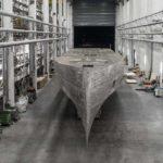 Lo scafo nella Palumbo Superyachts di Ancona