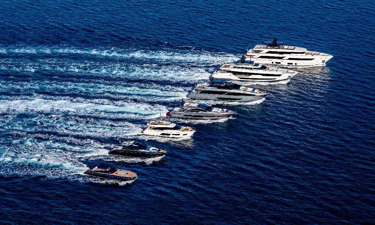 Ferretti dà i numeri 2018: nella foto la flotta del gruppo
