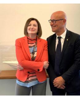Saverio Cecchi con Carla Demaria