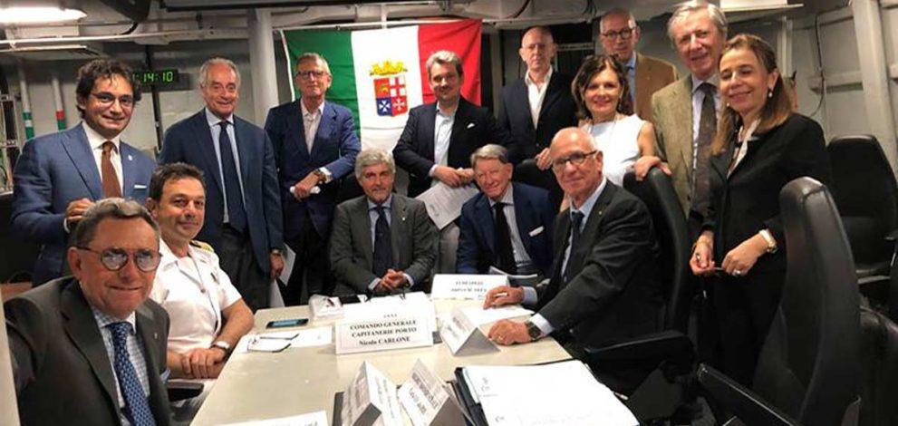 Cluster marittimo: il consiglio riunito sulla nave Bergamini