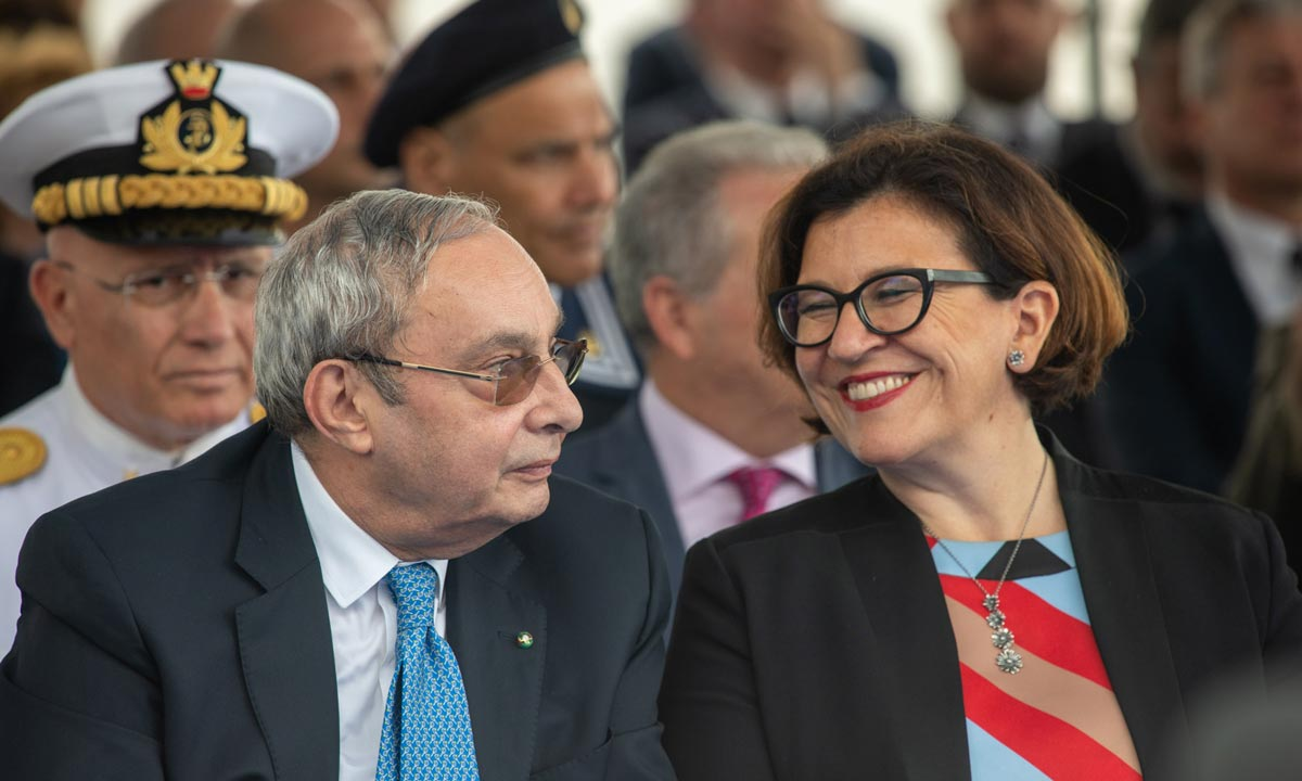 Giuseppe Bono con il ministro Elisabetta Trenta