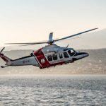 Elicottero della Guardia Costiera in perlustrazione