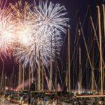 Fuochi d'artificio sul golfo