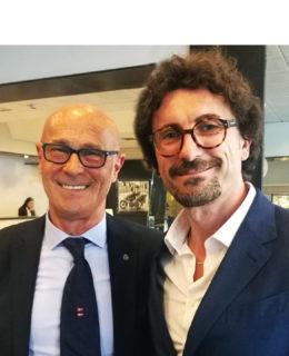 Saverio Cecchi con il ministro Danilo Toninelli