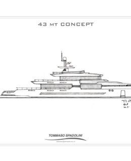 Spadolini: il progetto del 43 metri explorer