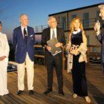 Gli armatori con Beatrice Venezi e Roberto Farnesi