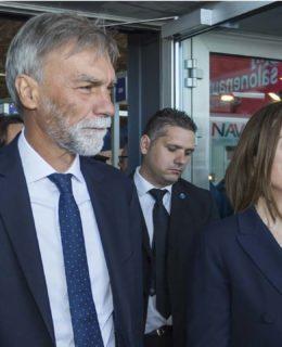 Codice: Graziano Delrio con Carla Demaria al Nautico 2017