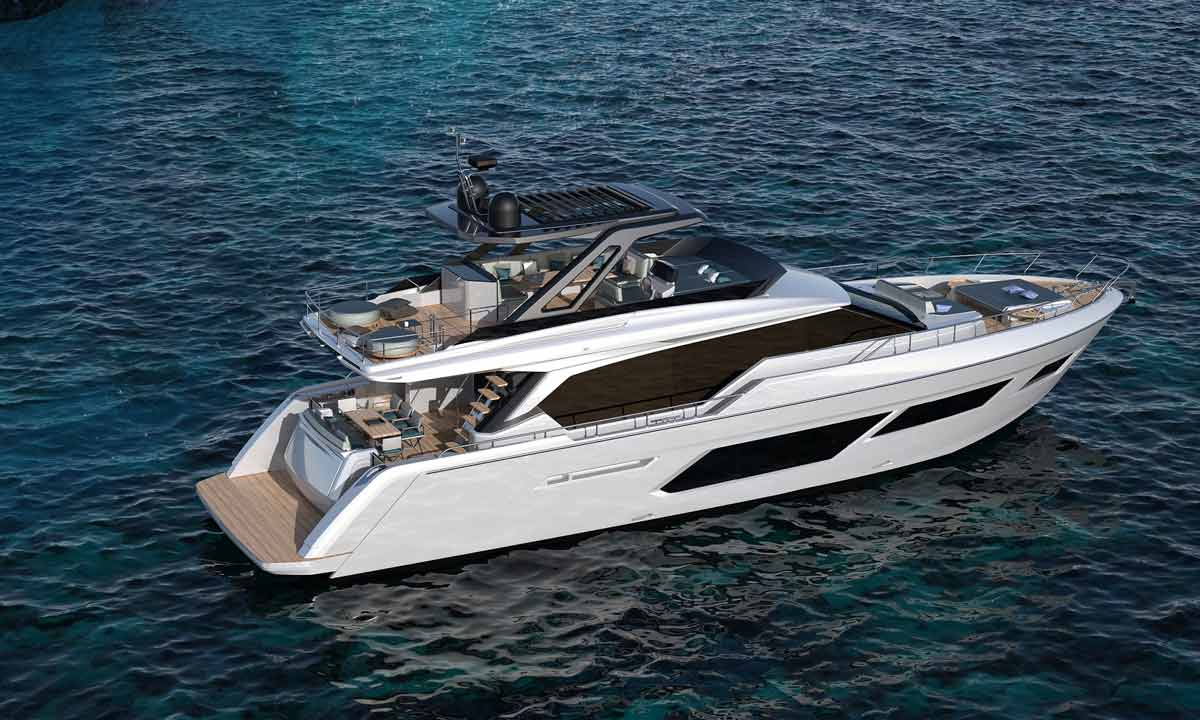Il nuovo Ferretti Yachts 720
