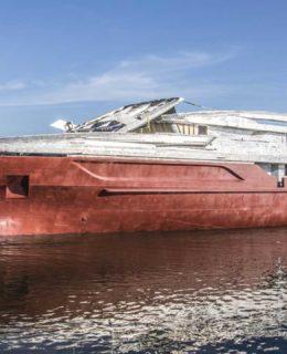 Baglietto 48m T-Line: lo scafo
