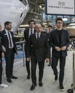 Ferretti: Alberto Galassi con Charles Leclerc